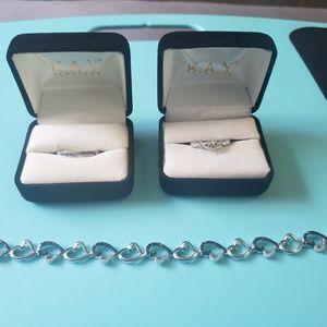 Diamond rings and bracelet